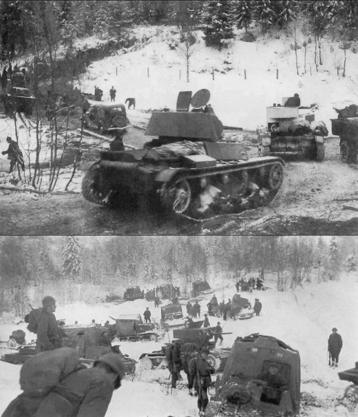 The Red Army invades Finland.