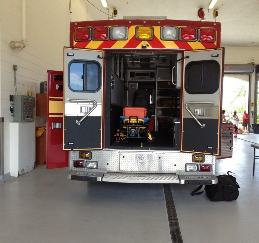 The emergency vehicles are equipped to handle crisis involving medical needs.
