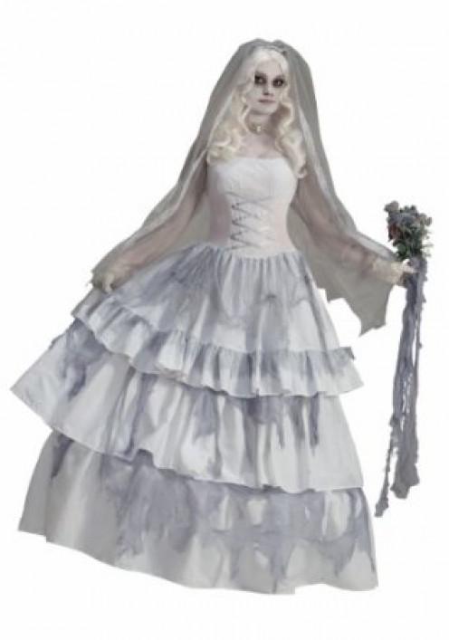 For those who want to wear a wedding dress for Halloween, you can dress up as a creepy, scary ghost bride