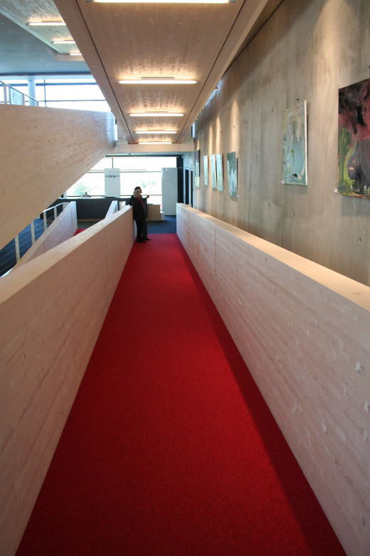 Ramp in business building