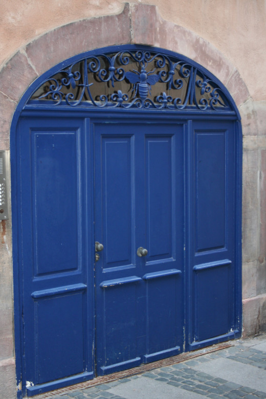 Door to old building in Strasbourg, France