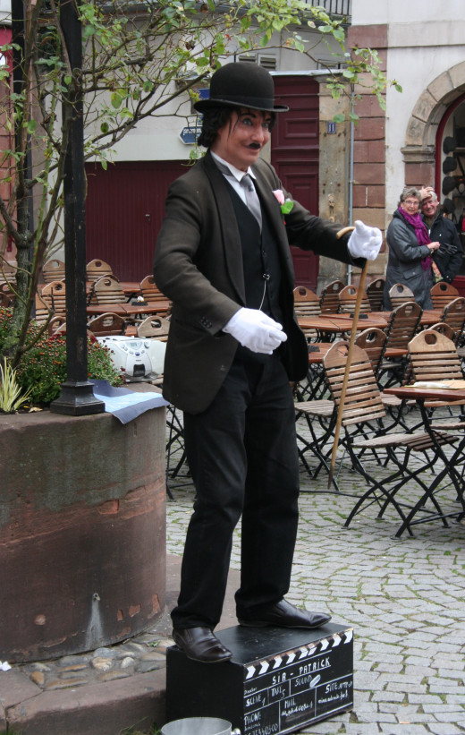 'Charlie Chaplain' mime - Strasbourg, France