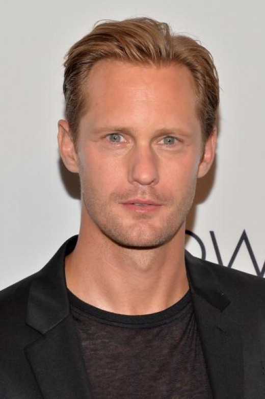 "Alexander Skarsgard. 37, 6'4"". Best known for ""True Blood."""