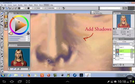 Adding Shadows.