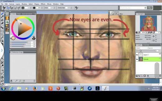 Straightened Eyes.