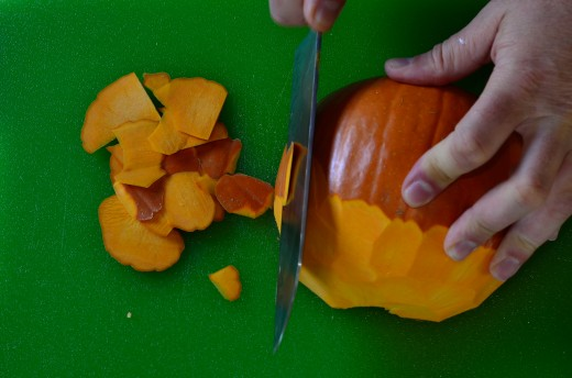 Peel and then slice or ...