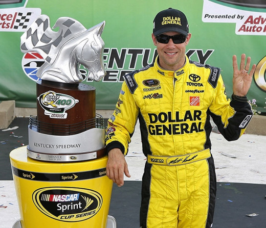 Kenseth has a series of trophies in his first year with JGR. But there's no room at Gibbs for a fourth car right now
