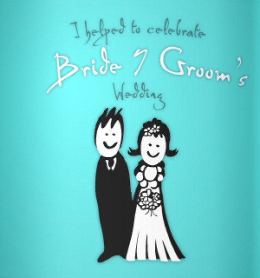 Cartoon couple - blue koozie ideas.