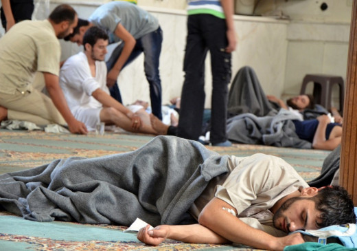 Alleged survivors unaffected from the chemical attack