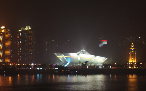Amazing architecture - we passed this late at night on the Yangtze River. Don't know what it is or the name of the city - quite impressive though.