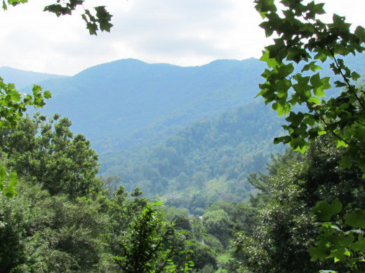 This captivating view greeted us each day from the deck of this home on Waynesville.