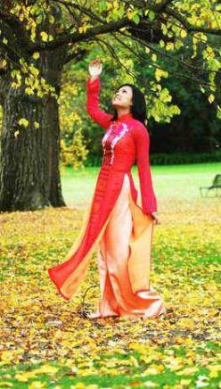 The Ao dai  (oy ai) Wedding Dress and Choang