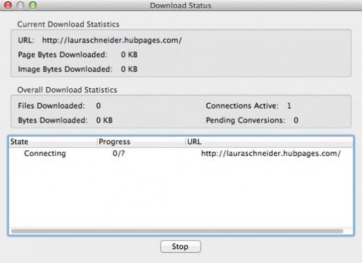 Figure 2: Download Status Window