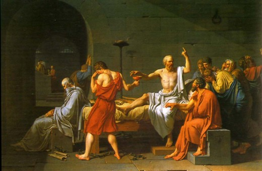 "Jacques Louis David's ""The Death of Socrates."""