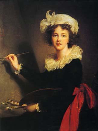 Elisabeth Louise Vigee-Lebrun. Self-portrait. 1790.