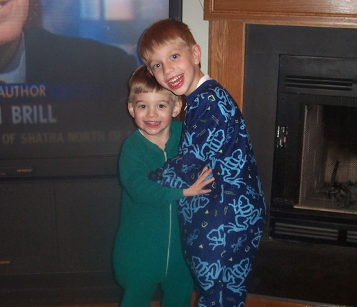 Picture of kids in Pajamas