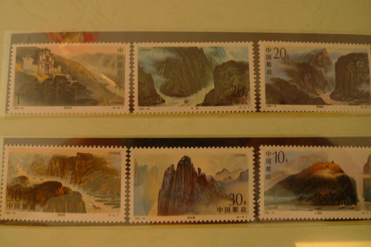 Commemorative Stamps of China's Yangtze River & its Three Gorges Dam