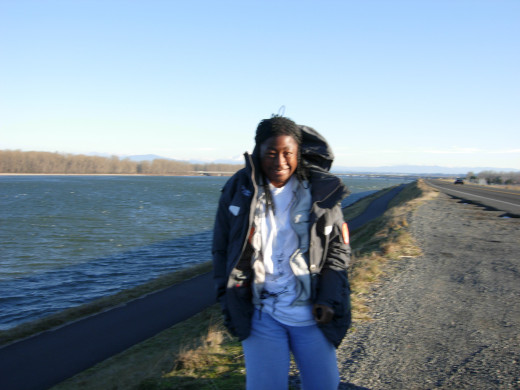 Me near the Columbia River