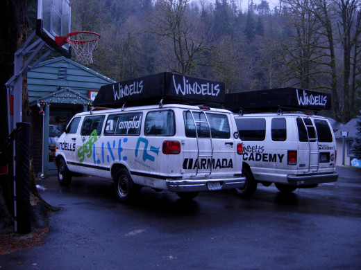 The vans that took us everywhere.
