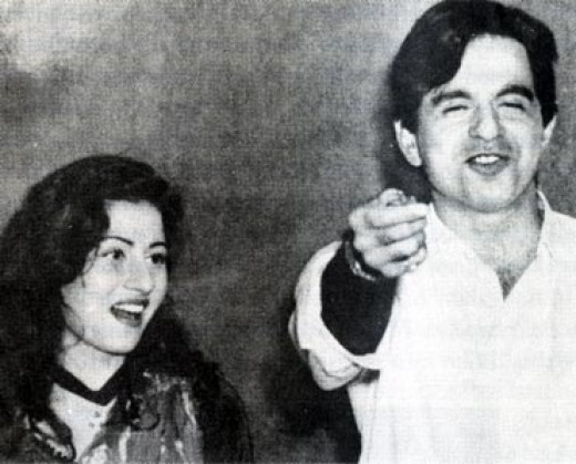 Madhubala with Dileep Kumar