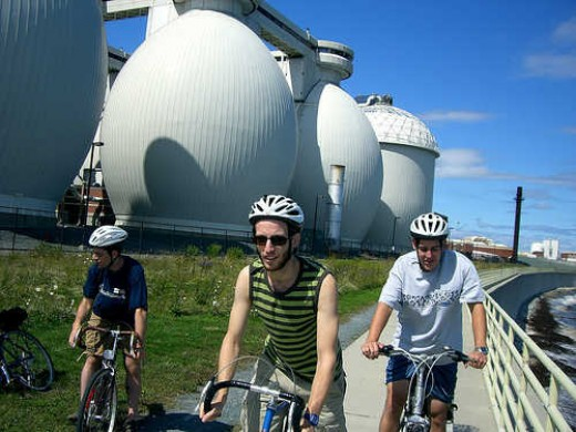 This is another example of what an AD Plant looks like. (It's behind the cyclists!)