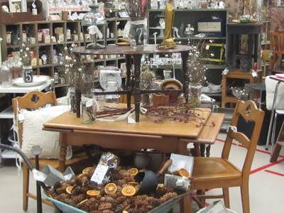 This is a typical booth setup in an indoor flea market or Antique mall.