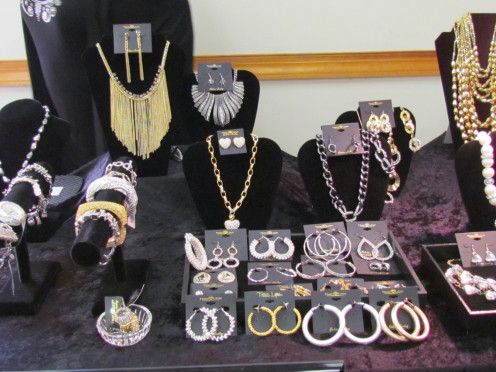 Vendors were present with beautiful jewelry.
