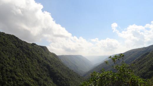 Rolling hills - Cherapunjee