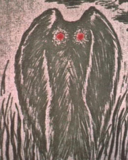 Depiction of the Mothman