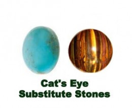 Cats Eye Stone Substitutes : Tiger Eye and Turquoise