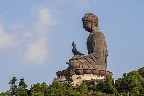 Fear of God is the beginning of Wisdom. Budha means Wisdom or  Awakened.  In the picture is a grand statue of Lord Buddha.