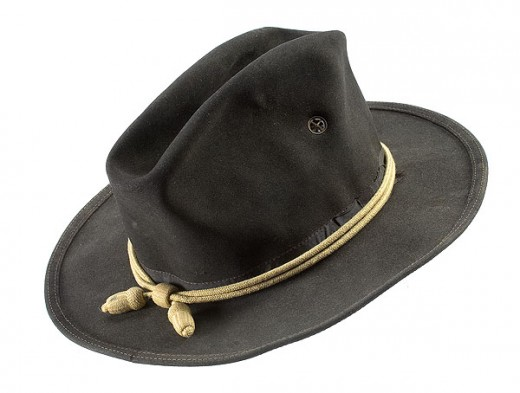 The Army officially adopted this hat for campaigns in 1876 and it is what cavalry soldiers  looked to for inspiration in headgear. It was available in drab and dark blue (drab more prevalent among enlisted men). It lasted about 10 years.