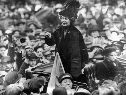 Emmeline Pankhurst was the leader of the suffragettes - a group who protested for women's rights to vote.