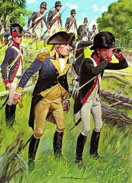From the 1790s to the 1810s, the official headgear of the US Army was a top hat adorned with plumage. Mounted men more often wore helmets.