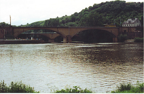 The Sauer flowing into the Mosel at Wasserbillig