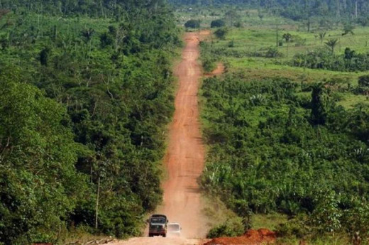 The trans-Amazonian highway.