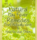 Natural Treatments For Hay Fever and How to Use Them