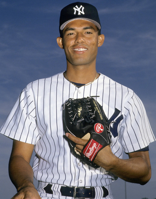 """The Sandman"" a young Mariano Rivera playing for the New York Yankee's for the first time."