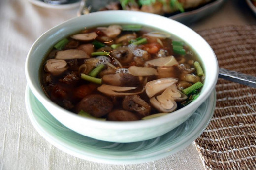 Thai soups highlight the fresh whole ingredients used to make them. They are light, simple and healthy