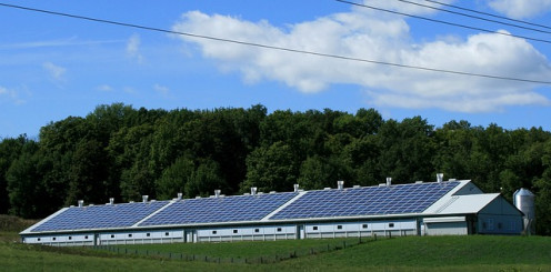 A barn operated on solar power.