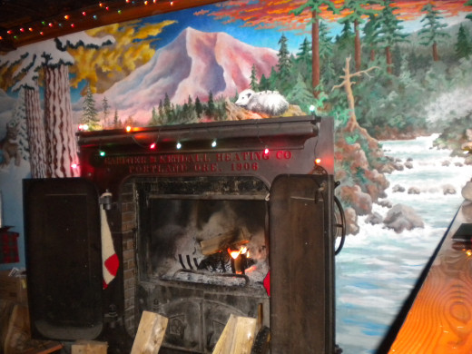 Skyway Restaurant Fireplace