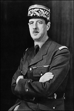 French General Charles de Gaulle, WW2