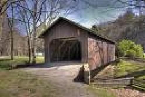 Thomas Malone Covered Bridge in   Beaver Creek State Park- Ohio