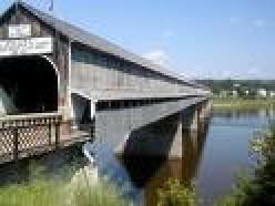 Hartland Covered Bridge in   New Brunswick, Canada