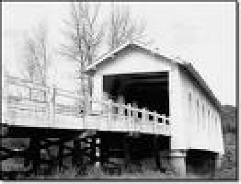 Grave Creek Bridge in Oregon-Built in 1920