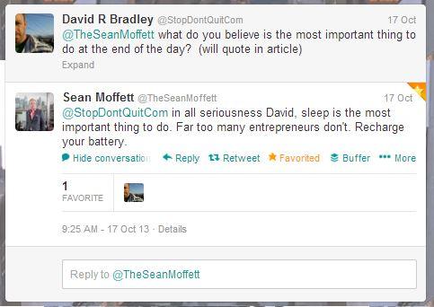 Sean Moffett - Business is personal