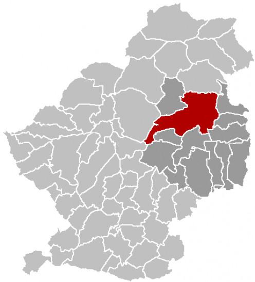 Map location of Marchiennes, Douai 'arrondissement', Nord department