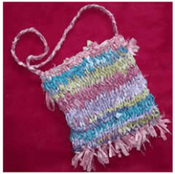 Free Upcycled Fabric Bag Knitting Pattern