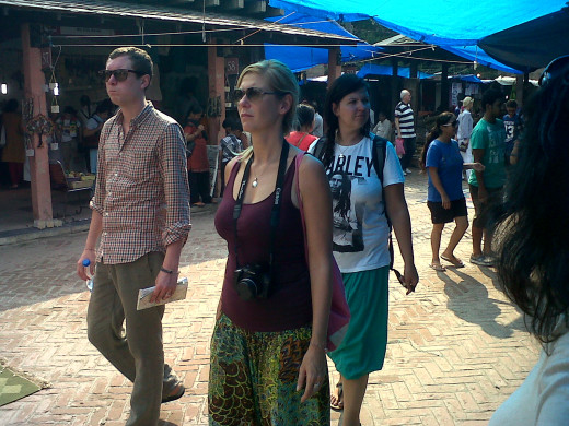 Foreigners at Dilli Haat