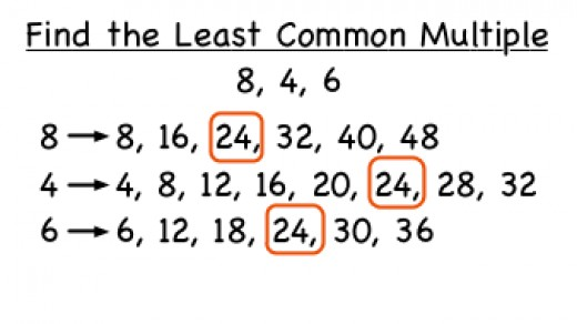 LCM for three numbers